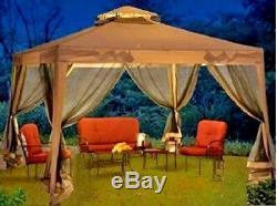 Tente De Gazebo En Acier Instantanée Canopy Easy Pop Up Ventilé Mariage Netting Écran