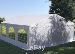 Tente Gazebo Imperméable À L'eau 20' X 20' X 10' Cadre En Acier Galvanisé Instructions Complètes