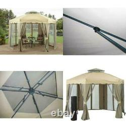 Tente Gazebo Shade Canopy Vent Double Roof Gilded Grove Steel Frame 12 X 12