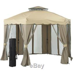 Tente Instantanée Gazebo Portable Pop-up De Soirée De Mariage Patio Pont Cadre Canopy Acier