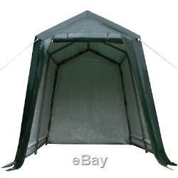 Tente Patio Durable Abri De Stockage Abri 7'x12' Abri Voiture Canopy Vert