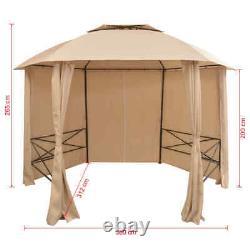 Vidaxl Chapiteau De Jardin Avec Des Rideaux 11' 9x8' 8 Pavillon Tente Belvédère Pare-soleil