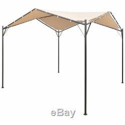 Vidaxl Garden Gazebo 13' 1x13' 1 Beige Patio Extérieur Pavillon Tente Canopy