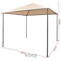 Vidaxl Gazebo Pavilion Tente Canopy Steel Beige Marquee Shelter 118.1/157.5