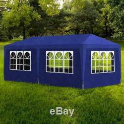 Vidaxl Tente 10'x13' Bleu Extérieur De Mariage De Jardin Patio Gazebo Canopy