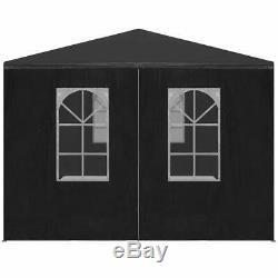 Vidaxl Tente 9'10x19'8 Anthracite Extérieur Auvents Pavillon Belvédère