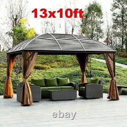 XL Outdoor Gazebo Diy Heavy Duty Kit Outdoor Patio Pavilion Curved Hardtop Metal